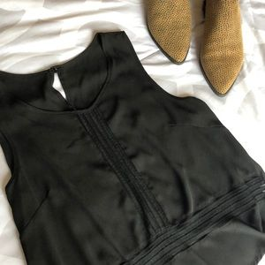 Tops - Black Tank Top with Mesh Detailing